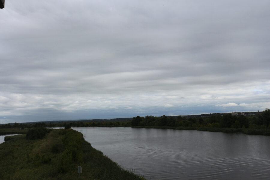 Blick über die Oder bei Mescherin