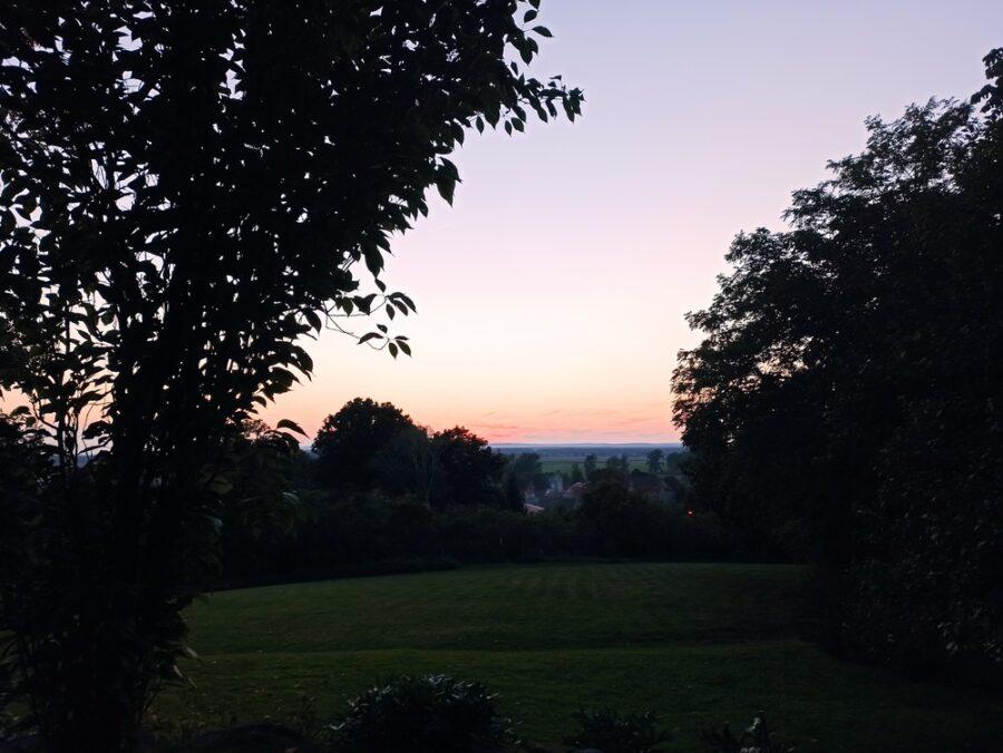 Sonnenuntergang in Cedynia